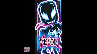 Timelapse drawing of Venom
