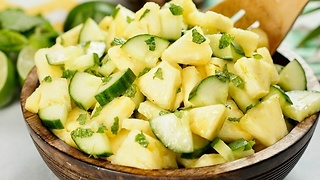 Pineapple Cucumber Salad With Zesty Lime Dressing