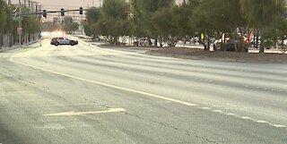 PD: Deadly crash involving pedestrian closes portion of Sahara Avenue
