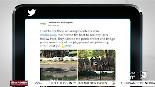 Take Time to Smile: Omaha volunteers help give park a facelift