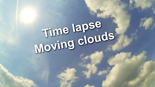 Time lapse - Blue sky with moving clouds - Relaxing music Pure Potentiality by Benjamin Martins