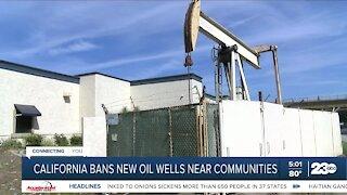 California bans new oil wells near communities