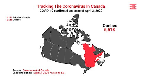 COVID 19 Confirmed Cases In Canada As Of April 3rd