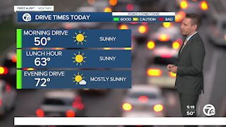 Metro Detroit Forecast: Drying out today before more rain early tomorrow