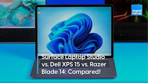 Surface Laptop Studio vs. Dell XPS 15 vs. Razer Blade 14: Compared!