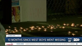 Vigil held marking 10 months since the West brothers went missing