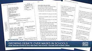 Growing debate over masks in Valley schools
