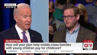 President Biden talks vaccines, infrastructure at town hall in Baltimore