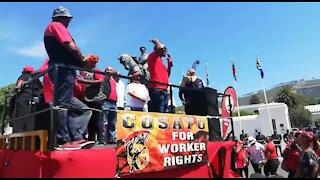 SOUTH AFRICA - Cape Town - Cosatu March (Video) (5LG)
