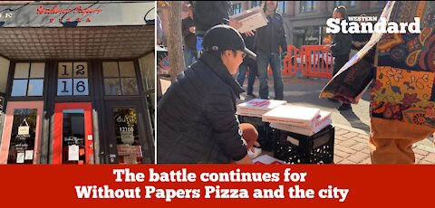 The battle continues between Without Papers Pizza and the city