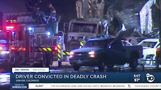 Driver in Colorado convicted in crash that killed four