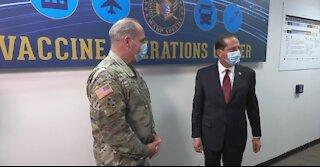 HHS Secretary visits Operation Warp Speed Vaccine Operations Center