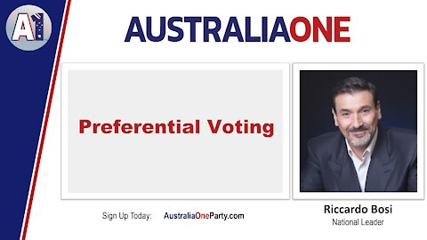 AustraliaOne Party - Preferential Voting