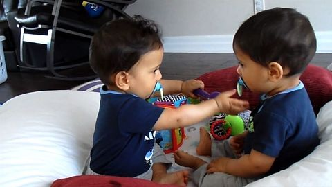 Adorable Baby Twins Bring Double The Trouble
