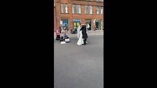 Newlyweds Share Their First Dance On Glasgow High Street