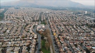 Aerial view Satelite city Maipu in Santiago, Chile