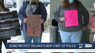 Some residents protest Delano's new chief of police