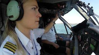 Flying a seaplane