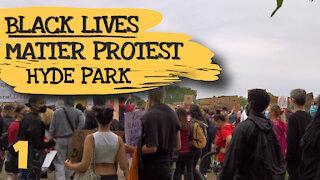 BLM PROTEST HYDE PARK - LONDON, ENGLAND - 3RD JUNE 2020