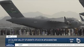 23 Cajon Valley students stranded in Afghanistan