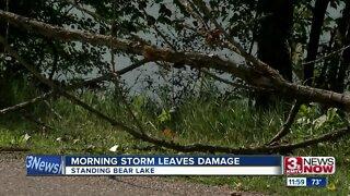 Morning storm leaves damage