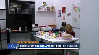 Local woman credits success of her small business with Amazon partnership
