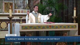 Sunday Mass Resumes in Detroit