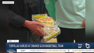 Tortillas hurled at Orange Glen basketball team