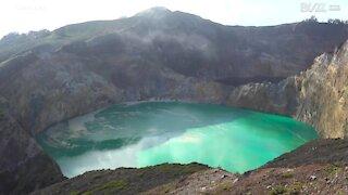 Søernes utrolige farver i Indonesien