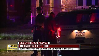 Woman shot to death, 2 suspects arrested