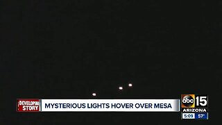 Mysterious lights hover over Mesa