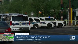 PD: 19-year-old dead after shooting in downtown Phoenix, homicide investigation underway