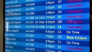 Flights delayed to New York and Philadelphia
