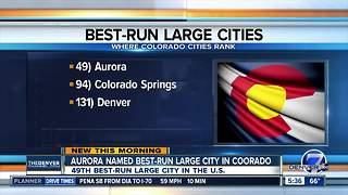Aurora named best run city in Colorado