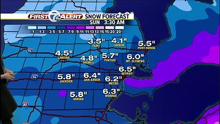 Snowy weekend on tap for metro Detroit