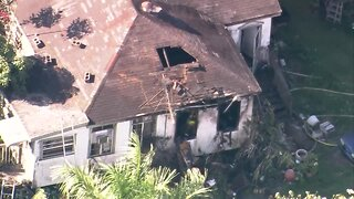 Chopper 5: House fire at Belle Glade home