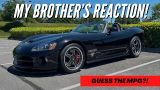 How Many MPGs Does My Viper Get? ***PLUS MY BROTHERS REACTION TO THE CAR***
