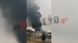 Φωτιά σε εργοστάσιο ανακύκλωσης στο Σχηματάρι | makeleio.gr