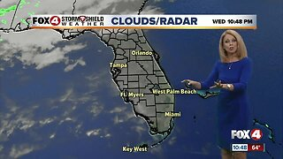 Warmer temps with a few clouds Thursday