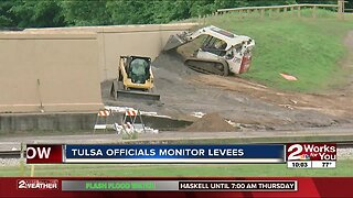 Officials monitor Tulsa County levees