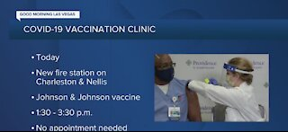 Clark County hosting pop-up vaccine site at new fire station