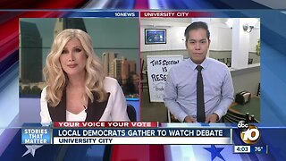 San Diego Democrats gather to watch presidential debate