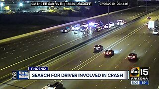 Search for driver involved in I-10 crash