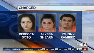 Three people arrested for Battery in Immokalee