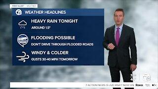 Metro Detroit Forecast: Heavy rain and thunder likely tonight