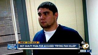"Accused ""frying pan killer"" pleads not guilty"