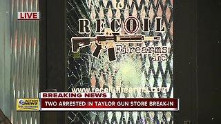 Two arrested in Taylor gun store break-in