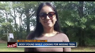 Authorities discover body in search for missing N.C. teen