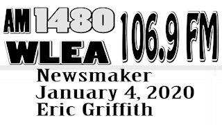 Wlea Newsmaker January 4, 2021, Eric Griffith
