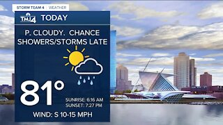 Showers possible to start off the week